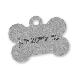 Lawyer / Attorney Avatar Bone Shaped Dog Tag (Personalized)