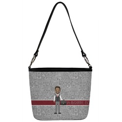 Lawyer / Attorney Avatar Bucket Bag w/ Genuine Leather Trim (Personalized)