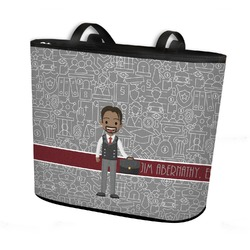 Lawyer / Attorney Avatar Bucket Tote w/ Genuine Leather Trim (Personalized)