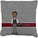 Lawyer / Attorney Avatar Faux-Linen Throw Pillow (Personalized)