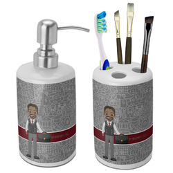 Lawyer / Attorney Avatar Ceramic Bathroom Accessories Set (Personalized)