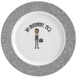 Lawyer / Attorney Avatar Ceramic Dinner Plates (Set of 4) (Personalized)