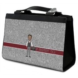 Lawyer / Attorney Avatar Classic Tote Purse w/ Leather Trim (Personalized)
