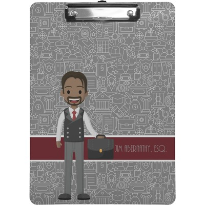 Lawyer / Attorney Avatar Clipboard (Personalized)