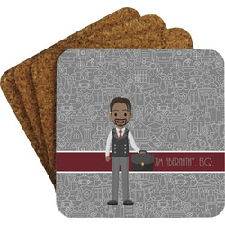 Lawyer / Attorney Avatar Coaster Set (Personalized)