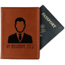Lawyer / Attorney Avatar Leatherette Passport Holder (Personalized)