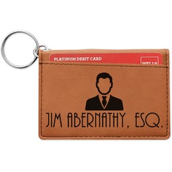 Lawyer / Attorney Avatar Leatherette Keychain ID Holder (Personalized)
