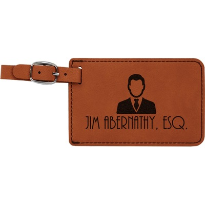 Lawyer / Attorney Avatar Leatherette Luggage Tag (Personalized)