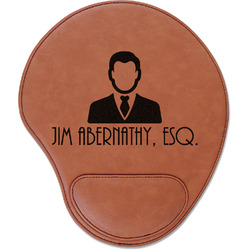 Lawyer / Attorney Avatar Leatherette Mouse Pad with Wrist Support (Personalized)