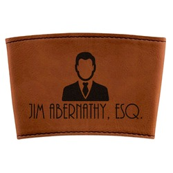 Lawyer / Attorney Avatar Leatherette Cup Sleeve (Personalized)
