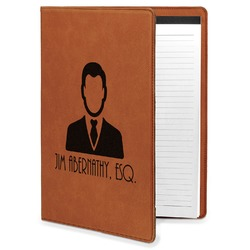 Lawyer / Attorney Avatar Leatherette Portfolio with Notepad (Personalized)
