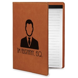 Lawyer / Attorney Avatar Leatherette Portfolio with Notepad - Small - Single Sided (Personalized)