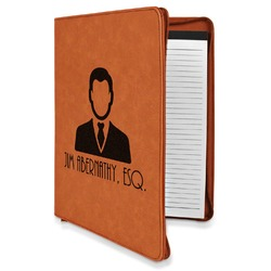 Lawyer / Attorney Avatar Leatherette Zipper Portfolio with Notepad (Personalized)