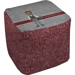 Lawyer / Attorney Avatar Cube Pouf Ottoman (Personalized)