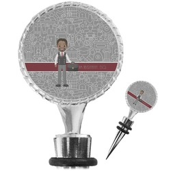 Lawyer / Attorney Avatar Wine Bottle Stopper (Personalized)