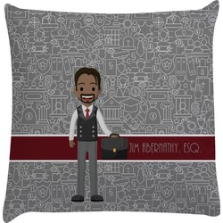 Lawyer / Attorney Avatar Decorative Pillow Case (Personalized)