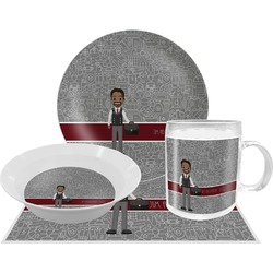Lawyer / Attorney Avatar Dinner Set - 4 Pc (Personalized)