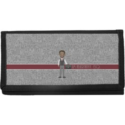 Lawyer / Attorney Avatar Canvas Checkbook Cover (Personalized)