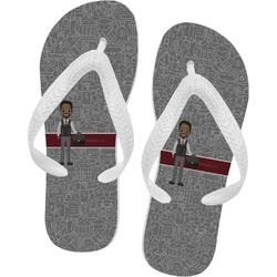 Lawyer / Attorney Avatar Flip Flops - XSmall (Personalized)