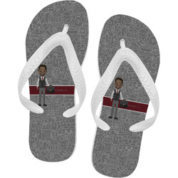 Lawyer / Attorney Avatar Flip Flops (Personalized)