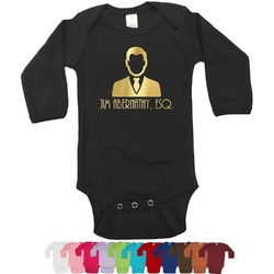 Lawyer / Attorney Avatar Foil Bodysuit - Long Sleeves - 6-12 months - Gold, Silver or Rose Gold (Personalized)