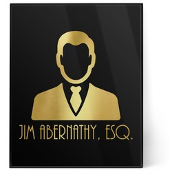 Lawyer / Attorney Avatar 8x10 Foil Wall Art - Black (Personalized)