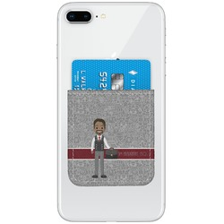 Lawyer / Attorney Avatar Genuine Leather Adhesive Phone Wallet (Personalized)