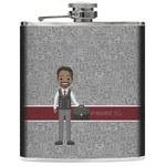 Lawyer / Attorney Avatar Genuine Leather Flask (Personalized)