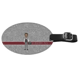Lawyer / Attorney Avatar Genuine Leather Oval Luggage Tag (Personalized)
