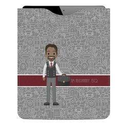 Lawyer / Attorney Avatar Genuine Leather iPad Sleeve (Personalized)