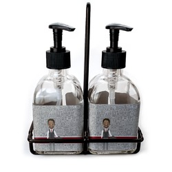Lawyer / Attorney Avatar Soap & Lotion Dispenser Set (Glass) (Personalized)