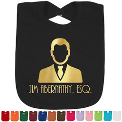 Lawyer / Attorney Avatar Foil Baby Bibs (Select Foil Color) (Personalized)