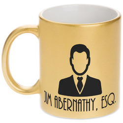 Lawyer / Attorney Avatar Gold Mug (Personalized)