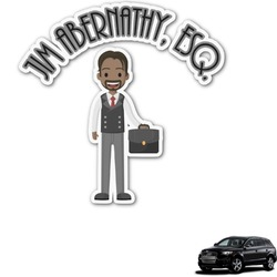 Lawyer / Attorney Avatar Graphic Car Decal (Personalized)