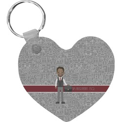 Lawyer / Attorney Avatar Heart Keychain (Personalized)