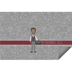 Lawyer / Attorney Avatar Indoor / Outdoor Rug (Personalized)