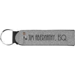 Lawyer / Attorney Avatar Neoprene Keychain Fob (Personalized)
