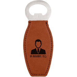 Lawyer / Attorney Avatar Leatherette Bottle Opener (Personalized)