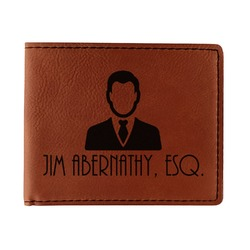 Lawyer / Attorney Avatar Leatherette Bifold Wallet - Single Sided (Personalized)