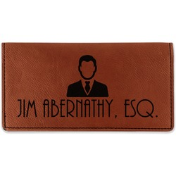 Lawyer / Attorney Avatar Leatherette Checkbook Holder (Personalized)