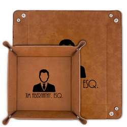 Lawyer / Attorney Avatar Faux Leather Valet Tray (Personalized)