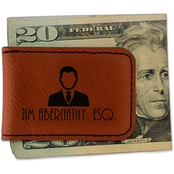Lawyer / Attorney Avatar Leatherette Magnetic Money Clip (Personalized)