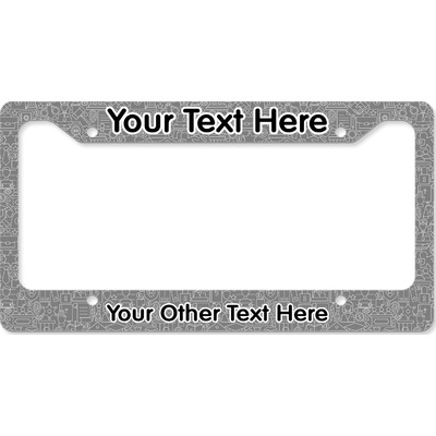 Lawyer / Attorney Avatar License Plate Frame (Personalized)