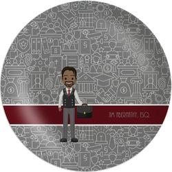 Lawyer / Attorney Avatar Melamine Plate (Personalized)