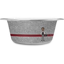 Lawyer / Attorney Avatar Stainless Steel Dog Bowl (Personalized)
