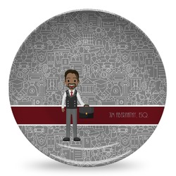 Lawyer / Attorney Avatar Microwave Safe Plastic Plate - Composite Polymer (Personalized)