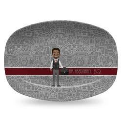 Lawyer / Attorney Avatar Plastic Platter - Microwave & Oven Safe Composite Polymer (Personalized)