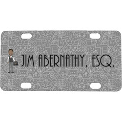 Lawyer / Attorney Avatar Mini / Bicycle License Plate (Personalized)