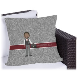 Lawyer / Attorney Avatar Outdoor Pillow (Personalized)