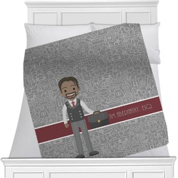 """Lawyer / Attorney Avatar Fleece Blanket - Queen / King - 90""""x90"""" - Double Sided (Personalized)"""